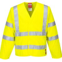 Hi-Vis Anti Static Jacket - Flame Resistant (Yello...