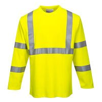 FR Hi-Vis Long Sleeve T-Shirt (Yellow / XXL / R)