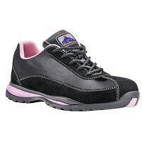 Steelite Ladies Safety Trainer S1P HRO (BkPink / 40         6 / R)
