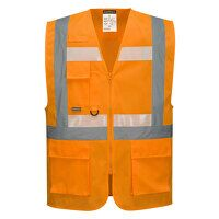 Glowtex Ezee Zip Executive Vest (Orange / XXL / R)