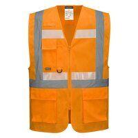 Glowtex Ezee Zip Executive Vest (Orange / 3 XL / R...
