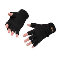 Fingerless Knit Insulatex Glove (Black / R)