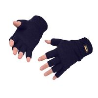 Fingerless Knit Insulatex Glove (Navy / R)