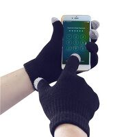 Touchscreen Knit Glove (Navy / LXL / R)