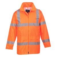 Hi-Vis Rain Jacket (Orange / Medium / R)