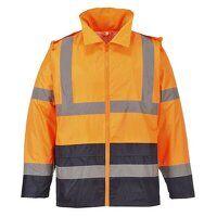 Hi-Vis Classic Contrast Rain Jacket (OrNa / XL / R...