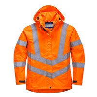 Ladies Hi-Vis Breathable Jacket (Orange / Small / ...