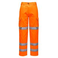 Ladies Hi-Vis Trousers (Orange / Large / R)