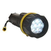 7 LED Rubber Torch  (YeBk / R)