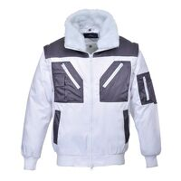 Two Tone Pilot Jacket (White / 3 XL / R)