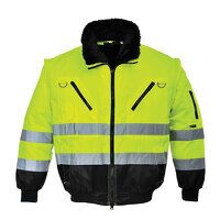 Hi-Vis 3-in-1 Pilot Jacket (YeBk / Large / R)