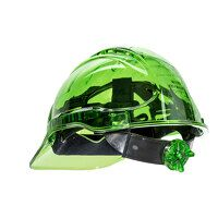 Peak View Ratchet Hard Hat Vented (Green / R)