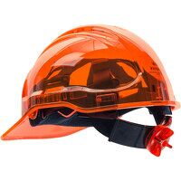 Peak View Ratchet Hard Hat Vented (Orange / R)