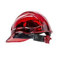Peak View Ratchet Hard Hat Vented (Red / R)