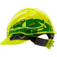 Peak View Ratchet Hard Hat Vented (Yellow / R)