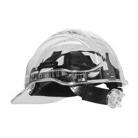 Peak View Plus Ratchet Hard Hat (Clear / R)