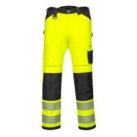PW3 Hi-Vis Work Trousers (YeBkS / UK30 EU46  F / S...