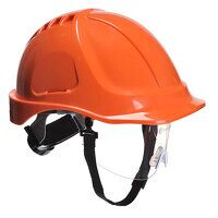 Endurance Plus Visor Helmet (Orange / R)