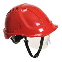 Endurance Plus Visor Helmet (Red / R)