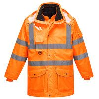 Hi-Vis 7-in-1 Traffic Jacket RIS (Orange / Medium / R)