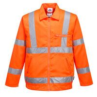 Hi-Vis Poly-cotton Jacket RIS (Orange / ...