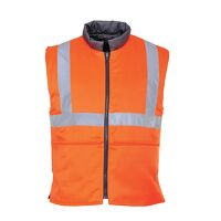 Hi-Vis Reversible Bodywarmer RIS (Orange / XL / R)