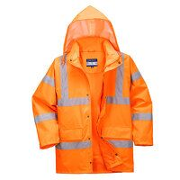 Hi-Vis Breathable Jacket (Orange / 3 XL / R)