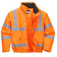 Hi-Vis Breathable Mesh Lined Jacket (Orange / Medi...