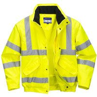 Hi-Vis Breathable Mesh Lined Jacket (Yellow / Smal...