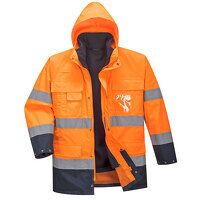 Hi-Vis Lite 3 in 1 Jacket (OrNa / Medium / R)