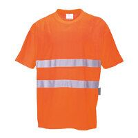 Cotton Comfort T-Shirt (Orange / Large / R)