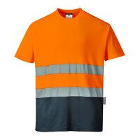 Two Tone Cotton Comfort T-Shirt (OrNa / XXL / R)