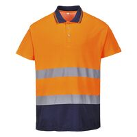 Two Tone Cotton Comfort Polo (OrNa / Medium / R)
