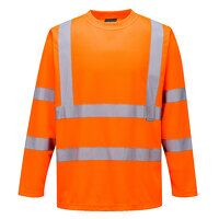 Hi-Vis Long Sleeved T-Shirt (Orange / Medium / R)