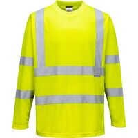 Hi-Vis Long Sleeved T-Shirt (Yellow / XL / R)