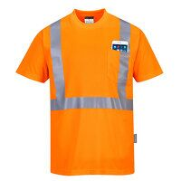 Hi-Vis Pocket T-Shirt  (Orange / XXL / R)
