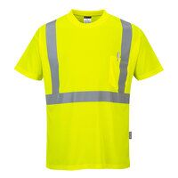 Hi-Vis Pocket T-Shirt  (Yellow / Small / R)