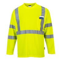 Hi-Vis Long Sleeve Pocket T-Shirt  (Yellow / XL / ...
