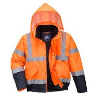 Hi-Vis Two Tone Bomber Jacket (OrNa / Large / R)