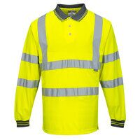 Hi-Vis Long Sleeved Polo (Yellow / XSmall / R)