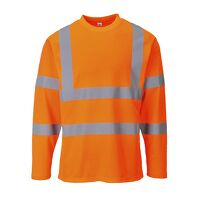 Hi-Vis Long Sleeved T-Shirt (Orange / XL / R)