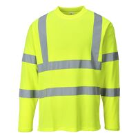 Hi-Vis Long Sleeved T-Shirt (Yellow / Small / R)