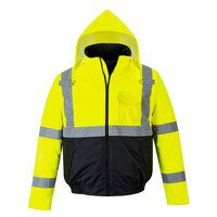 Hi-Vis Two-Tone Bomber Jacket (YeBk / 4XL / R)