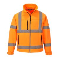 Hi-Vis Classic Softshell Jacket (3L) (Orange / Sma...