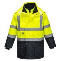 Hi-Vis 7-in-1 Contrast Traffic Jacket (YeNa / Small / R)