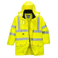 Hi-Vis 7-in-1 Traffic Jacket (Yello1 / Small / 1)