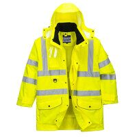 Hi-Vis 7-in-1 Traffic Jacket (Yellow / Small / R)