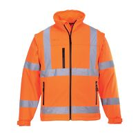 Hi-Vis Softshell Jacket (3L) (Orange / XSmall / R)