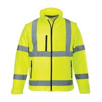 Hi-Vis Softshell Jacket (3L) (Yellow / 4XL / R)