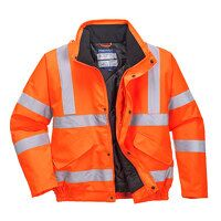 Hi-Vis Bomber Jacket (Orange / Medium / R)